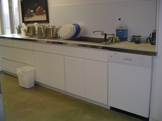 dishwasher area